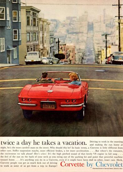 Chevrolet Corvette 1961 San Francisco | Vintage Cars 1891-1970