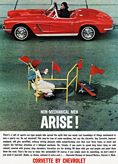 Chevrolet Corvette 1962 Non Mechanical Men | Vintage Cars 1891-1970