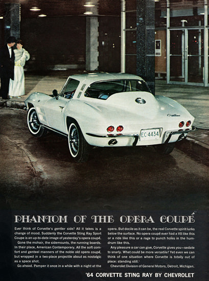 Chevrolet Corvette 1964 Phantom Of The Opera | Vintage Cars 1891-1970