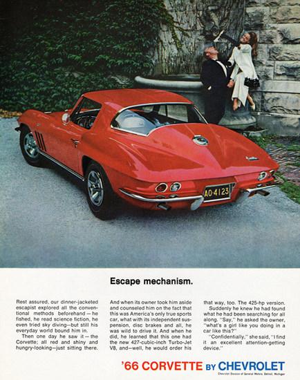 Chevrolet Corvette 1966 Escape Mechanism | Vintage Cars 1891-1970
