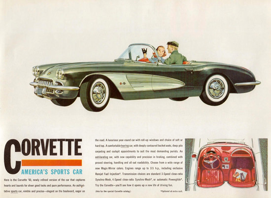 Chevrolet Corvette Americas Sports Car 1960 | Vintage Cars 1891-1970
