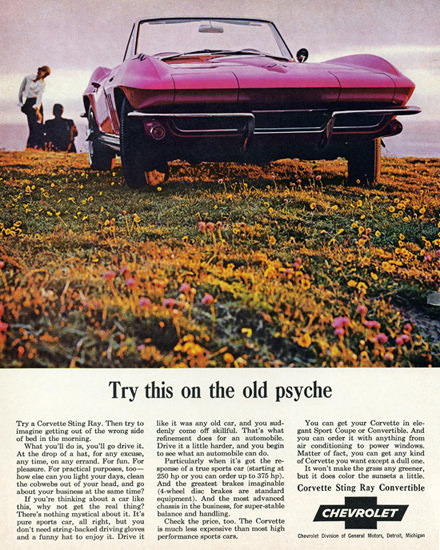 Chevrolet Corvette Convertible 1965 Old Psyche | Vintage Cars 1891-1970