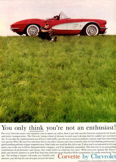 Chevrolet Corvette Enthusiast 1961 | Vintage Cars 1891-1970