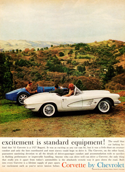 Chevrolet Corvette Excitement 1961 | Vintage Cars 1891-1970
