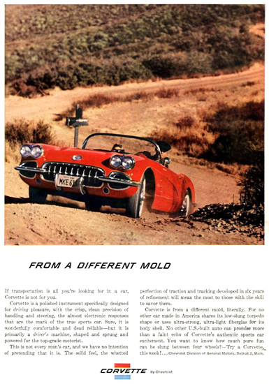 Chevrolet Corvette From A Different Mold 1959 | Vintage Cars 1891-1970