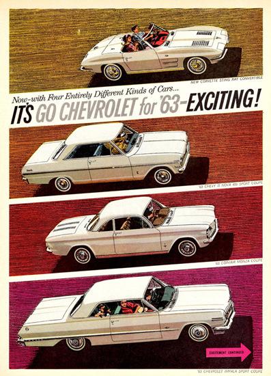 Chevrolet Corvette Nova Corvair Impala 1963 | Vintage Cars 1891-1970