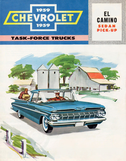 Chevrolet El Camino Sedan Pick Up 1959 | Vintage Cars 1891-1970