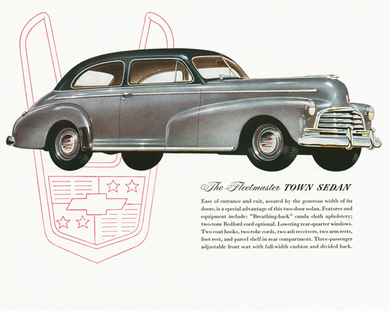 Chevrolet Fleetmaster Town Sedan 1946 | Vintage Cars 1891-1970