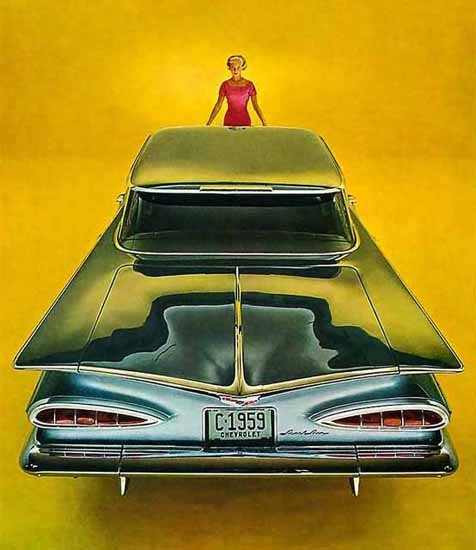 Chevrolet Impala 1959 Ad   Vintage Cars 1891-1970