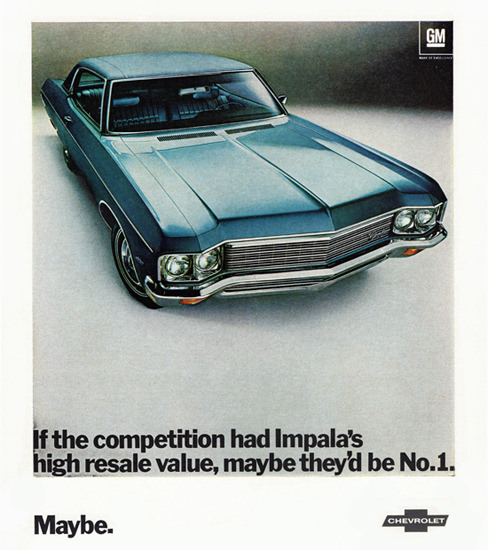 Chevrolet Impala Sport Coupe 1970 Maybe | Vintage Cars 1891-1970