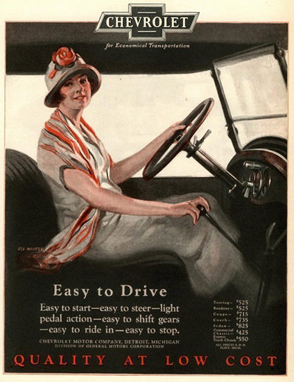 Chevrolet Lady Easy To Drive | Vintage Cars 1891-1970