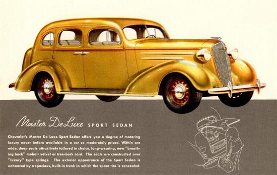 Chevrolet Master DeLuxe Sport Sedan 1936 | Vintage Cars 1891-1970
