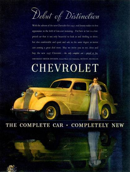 Chevrolet Master DeLuxe Sport Sedan 1937 | Vintage Cars 1891-1970