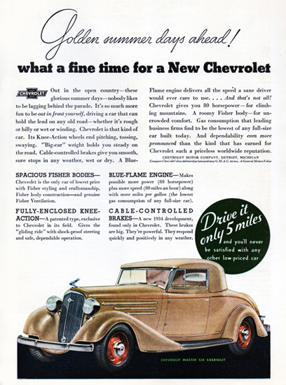 Chevrolet Master Six Cabriolet 1934 Fisher Body | Vintage Cars 1891-1970