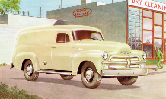 Chevrolet Panel Delivery 1954 City Laundry | Vintage Cars 1891-1970