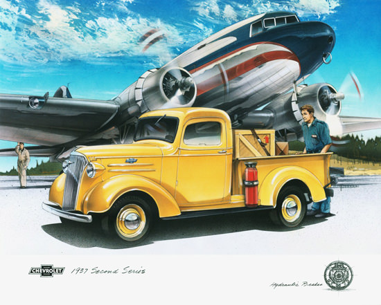 Chevrolet Pickup 1937 Airport Airplane | Vintage Cars 1891-1970
