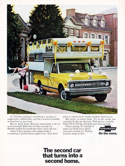 Chevrolet Pickup Camper 1970 Second Home   Vintage Cars 1891-1970
