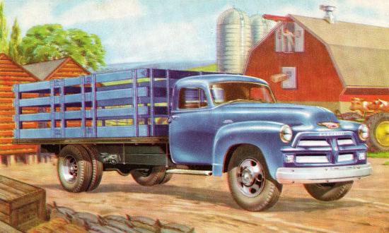 Chevrolet Stake Truck 1954 Farm | Vintage Cars 1891-1970