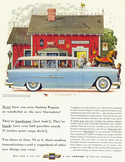 Chevrolet Station Wagon Body By Fisher 1955 | Vintage Cars 1891-1970
