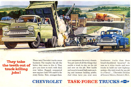 Chevrolet Task Force Trucks Detroit 1958 | Vintage Cars 1891-1970