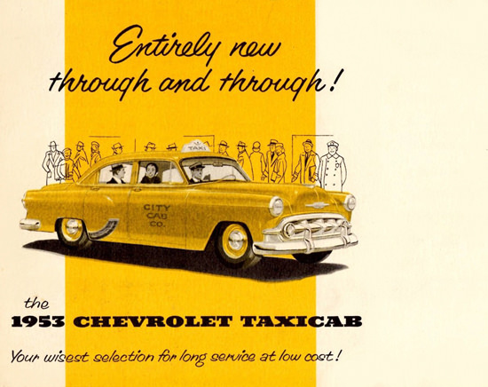 Chevrolet Taxicabs 1953 Through And Through   Vintage Cars 1891-1970