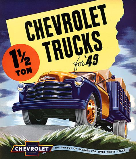 Chevrolet Trucks 1949 | Vintage Cars 1891-1970