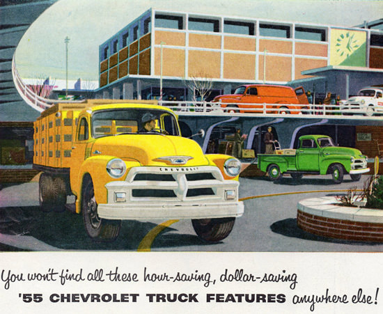 Chevrolet Trucks 1955 Hour Dollar Saving | Vintage Cars 1891-1970