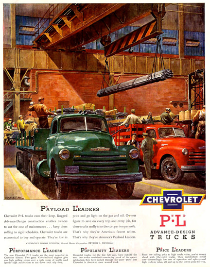 Chevrolet Trucks Design Payload Leaders | Vintage Cars 1891-1970
