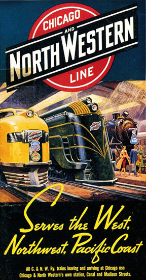 Chicago North Western Line Pacific Coast 1939 | Vintage Travel Posters 1891-1970