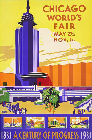 Chicago Worlds Fair Century Of Progress 1933 Y | Vintage Ad and Cover Art 1891-1970