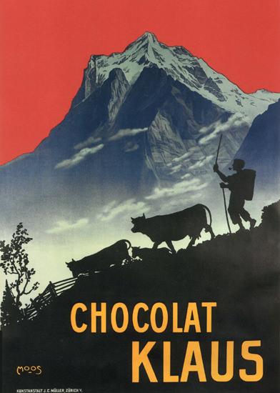 Chocolat Klaus Switzerland Schweiz Suisse | Vintage Ad and Cover Art 1891-1970