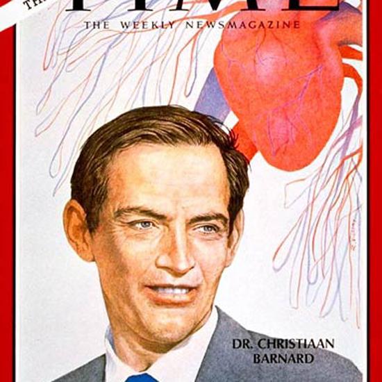 Christiaan Barnard Time Magazine 1967-12 crop   Best of Vintage Cover Art 1900-1970