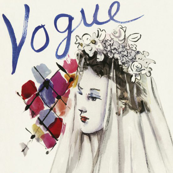 Christian Berard Vogue Cover 1937-03-31 Copyright crop | Best of Vintage Cover Art 1900-1970