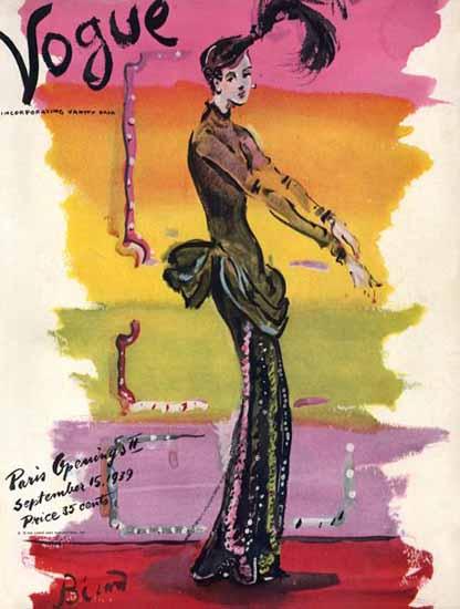 Christian Berard Vogue Cover 1939-09-15 Copyright | Vogue Magazine Graphic Art Covers 1902-1958
