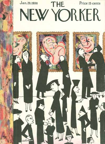 Christina Malman The New Yorker 1938_01_29 Copyright | The New Yorker Graphic Art Covers 1925-1945