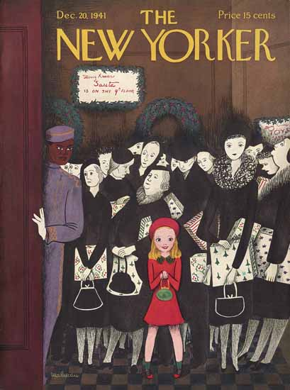 Christina Malman The New Yorker 1941_12_20 Copyright | The New Yorker Graphic Art Covers 1925-1945