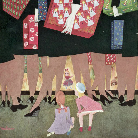 Christina Malman The New Yorker 1942_12_12 Copyright crop | Best of Vintage Cover Art 1900-1970
