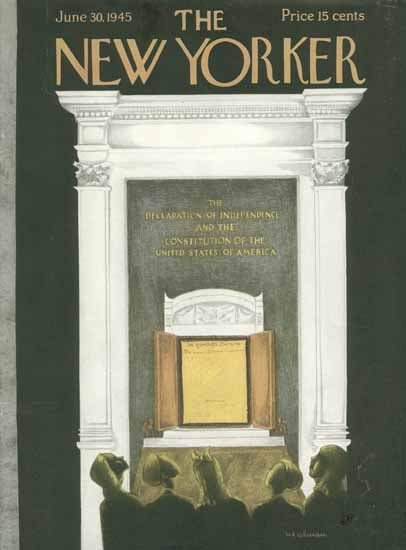 Christina Malman The New Yorker 1945_06_30 Copyright | The New Yorker Graphic Art Covers 1925-1945
