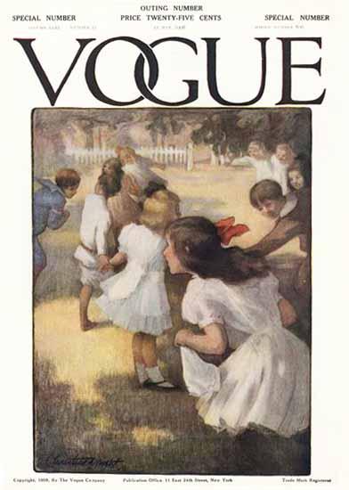 Christine Wright Vogue Cover 1908-05-21 Copyright | Vogue Magazine Graphic Art Covers 1902-1958