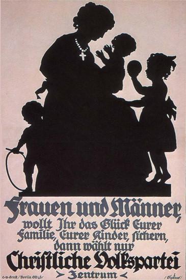 Christliche Volkspartei Fuer Das Glück Germany | Vintage War Propaganda Posters 1891-1970