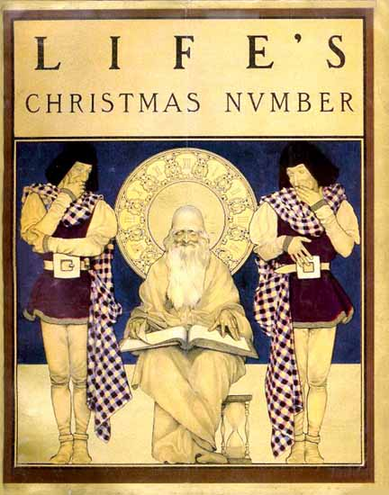 Christmas Number Life Humor Magazine 1900-12-01 Copyright | Life Magazine Graphic Art Covers 1891-1936
