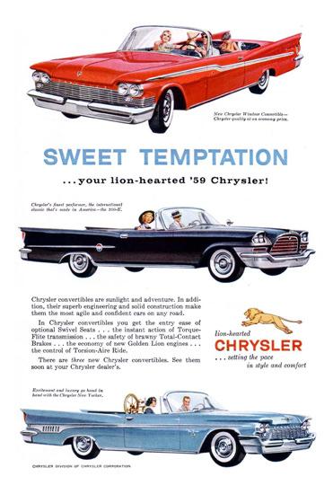 Chrysler 1959 Sweet Temptation Lion-Hearted | Vintage Cars 1891-1970