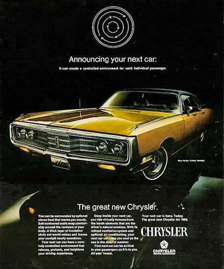 Chrysler New Yorker 1969 Gold | Vintage Cars 1891-1970