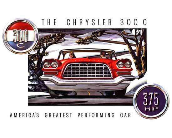 Chrysler 300 C 1957 375 HP Ad | Vintage Cars 1891-1970