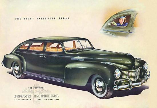 Chrysler 8 Passenger Sedan Crown Imperial 1940 | Vintage Cars 1891-1970