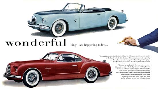 Chrysler C-200 DElegance Exner 1952 | Vintage Cars 1891-1970