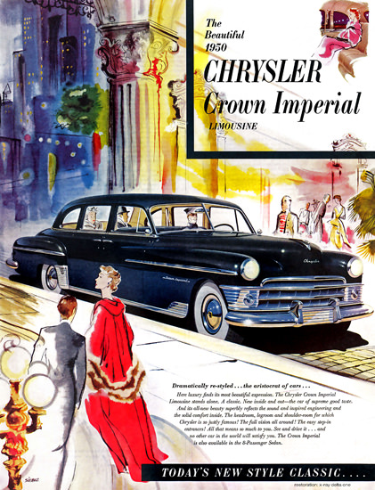 Chrysler Crown Imperial Limousine 1950 City | Vintage Cars 1891-1970