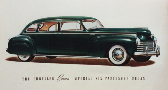 Chrysler Crown Imperial Six Passenger 1941 | Vintage Cars 1891-1970