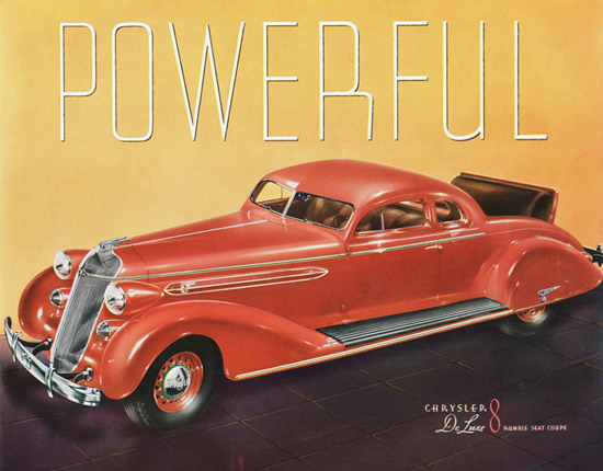 Chrysler DeLuxe 8 Rumble Seat Coupe 1936 | Vintage Cars 1891-1970