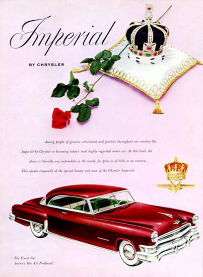 Chrysler Imperial 1952 Red | Vintage Cars 1891-1970